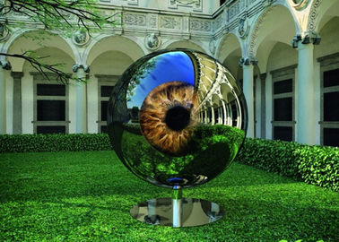 Eyeball Design Steel Artworks Artists Sculpture For Garden Decoration