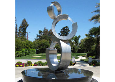 Contemporary Stainless Steel Sculpture Garden Stainless Steel Water Fountain